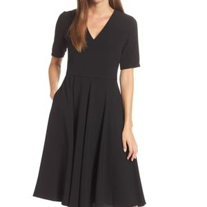 nwt | Gal Meets Glam Black Edith Midi Dress